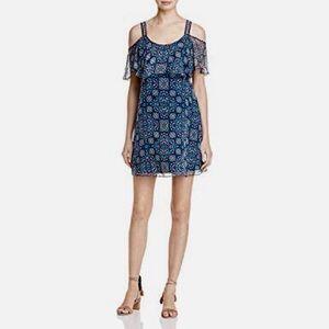 Ella Moss Womens Silk Cold Shoulder Dress Sz S NWT